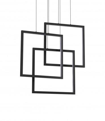 Lámpara de techo FRAME LED Cuadrados 80W negro - IDEAL LUX