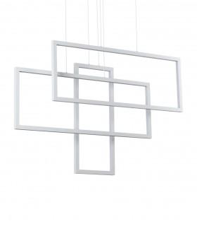 Lámpara de techo FRAME LED Rectángulos 93W blanco - IDEAL LUX