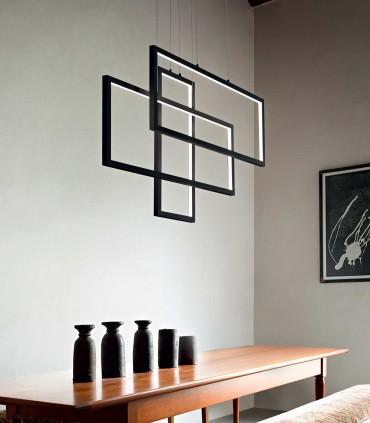 Lámpara de techo FRAME LED Rectángulos 93W negro - IDEAL LUX