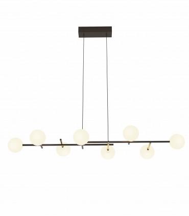 Lámpara de techo Cellar 8L G4 116cm negro 7631 - Mantra