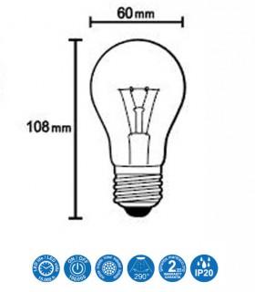 Características Bombilla LED 9W E27 360º 1090lm - Mantra