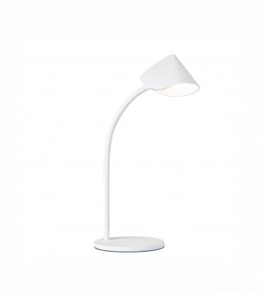 Lámpara de mesa Capuccina 8.5W Baja 44cm blanca 7576  - Mantra