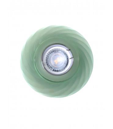 Aro Empotrable Cristal Verde ondas GU10