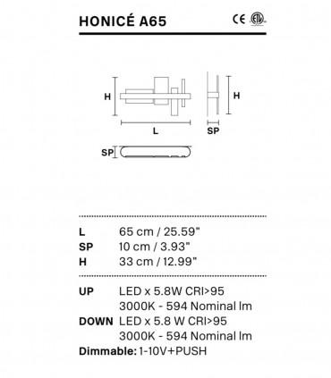 Características Aplique Honicé Lineal A65 - Masiero