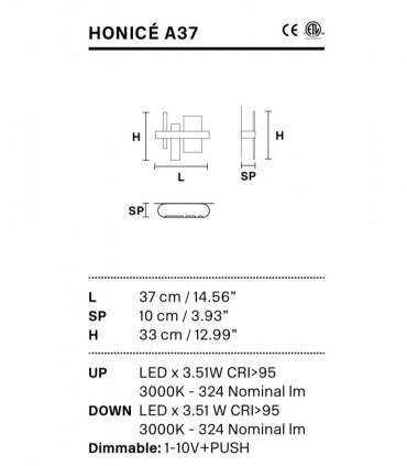 Características Aplique Honicé Lineal A37 - Masiero