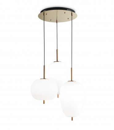 Lámpara de techo Umile LED 3 colgantes 60W - Ideal Lux