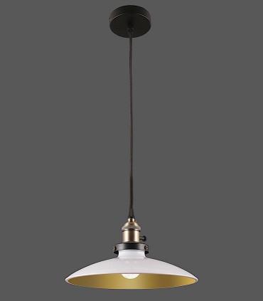 Lámpara Colgante 1 Luz Bagao blanco/oro Ø26cm E27 - ACB