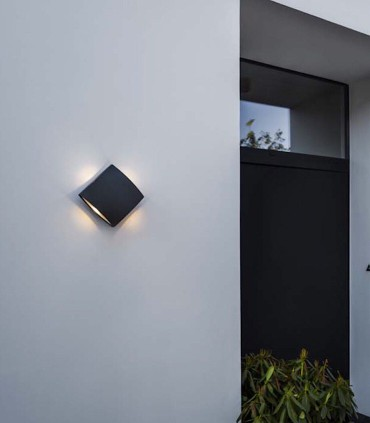 Aplique exterior PL Aluminio 11W 760lm 4000K