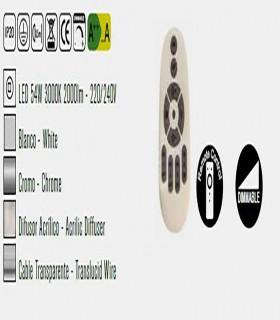 Lámpara de techo ORBITAL Led  Pequeña 54W Dimmable Blanco Mantra