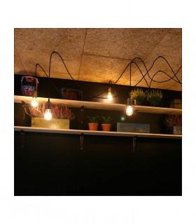 Portalámparas Vintage Cobre-brillo pendel E27, composición