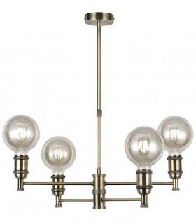 Lámpara Retro Vintage Portalámparas Cuero con 4 luces.