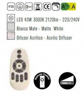 Lámpara LUNAS Led 43W Dimmable Blanco Mantra