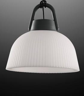 Lámpara colgante Kinké 37cm Gris Antracita, 6211, detalle campana.