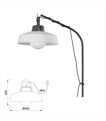 Lámpara colgante Kinke 37cm Gris Antracita Mantra con enchufe, 6217, imagen con dimensiones.