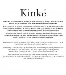 Lámpara colgante Kinke 40cm Gris Antracita Mantra, 6212, Resumen de la colección.