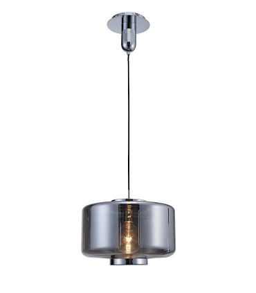 Lámpara colgante Jarras 40cm cromo-grafito de Mantra ref: 6191