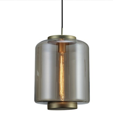 Lámpara colgante Jarras mediana 30cm bronce de Mantra, 6195, detalle tulipa