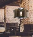Lámpara colgante Jarras 40cm cromo/grafito 6191 de Mantra