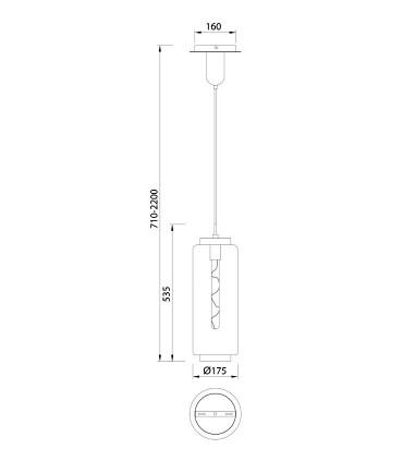 Lámpara colgante Jarras Pequeña 17cm cobre de Mantra, 6196