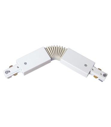 Conector Articulable Blanco 2 Hilos. Para unir dos carriles.