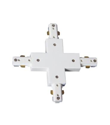 Conector X Blanco 2 Hilos. Utilizado para unir 4 carriles en X