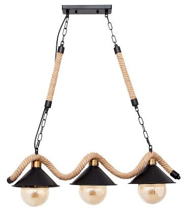 Lámpara cuerda 3 luces marrón