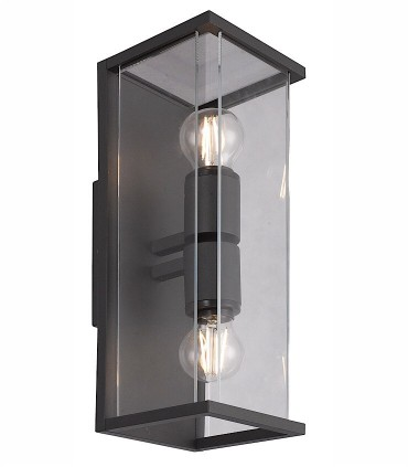 Aplique exterior Meribel 2 luces Graphite 6492 de Mantra