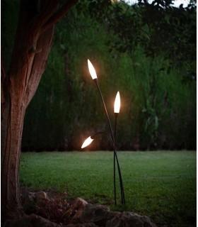 Lámpara de pie exterior espiga 3 luces de Mantra 6546