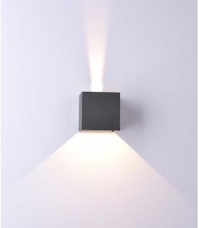 Aplique Exterior Davos 6521 cubo gris oscuro de Mantra