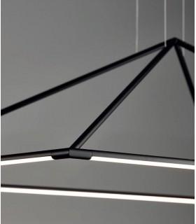Líneas lisas con metal en acabado negro mate.