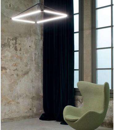 Lámpara Tubs 36w negro 00-5999-05-M1 Leds C4