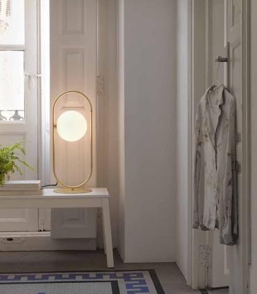 Lámpara sobremesa Abbacus, lámpara de rincón alta.