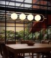 Lámpara de techo Abaccus de 4 luces, imagen de ambiente