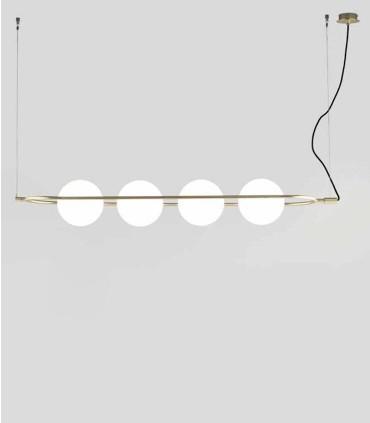 Lámpara colgante Abbacus de 4 luces.