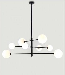 Lámpara de techo Atom negra C1248/8 - Aromas