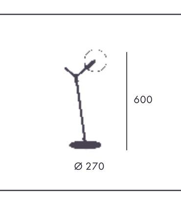 Lámpara de mesa Atom, dimensiones