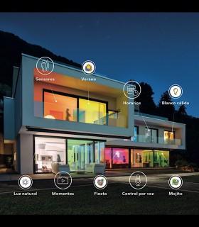 Ambientes con bombillas y plafones  led wifi RGB