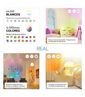 Ambientes con led  inteligente WIFI RGB
