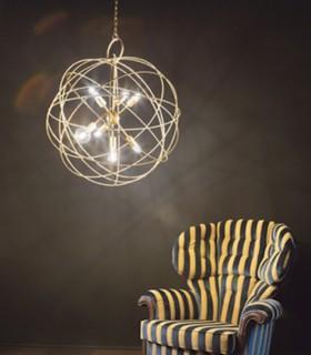 Imagen de ambiente. Lámpara Konse grande Ø80cm 7xE27