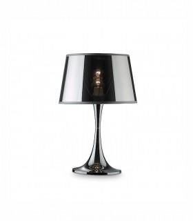 Lámpara Sobremesa BajaLondon Ø23.5cm cromo pantalla semitransparente