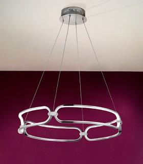 Lámpara led COLETTE 60cm cromo - Schuller
