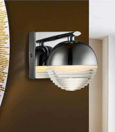 Aplique FLAVIA 1L LED cromo - Schuller 625769