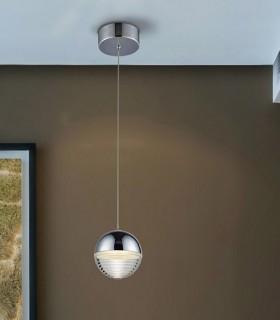 Lámpara FLAVIA 1 luz led cromo - Schuller