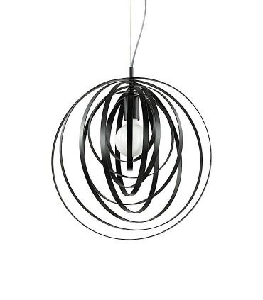 Lámpara Disco Ø46cm Negro 1xE27