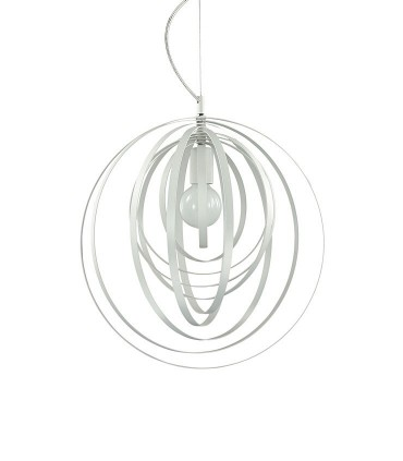 Lámpara Disco Ø46cm Blanco 1xE27