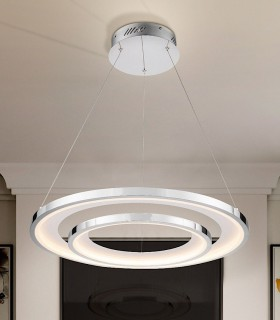 Lámpara led LARIS 82cm cromo - Schuller