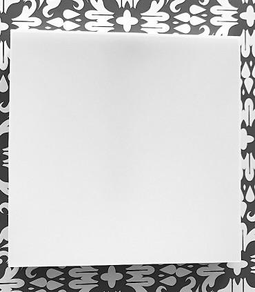 Plafón cuadrado sin marcos fino 24w 4000K 1920lm 19x19x2.7cm blanco. Vista frontal.