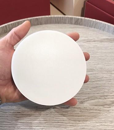Plafón redondo MINI sin marcos fino 12w 4000K 1000lm 12x2.7cm blanco. Vista tamaño.