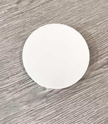 Plafón redondo MINI sin marcos fino 12w 4000K 1000lm 12x2.7cm blanco. Vista frontal.