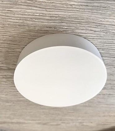 Plafón redondo MINI sin marcos fino 12w 4000K 1000lm 12x2.7cm blanco. Vista lateral.